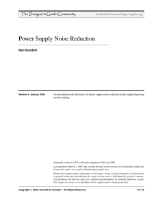 Power Supply Noise Reduction