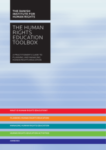 the human rights education toolbox