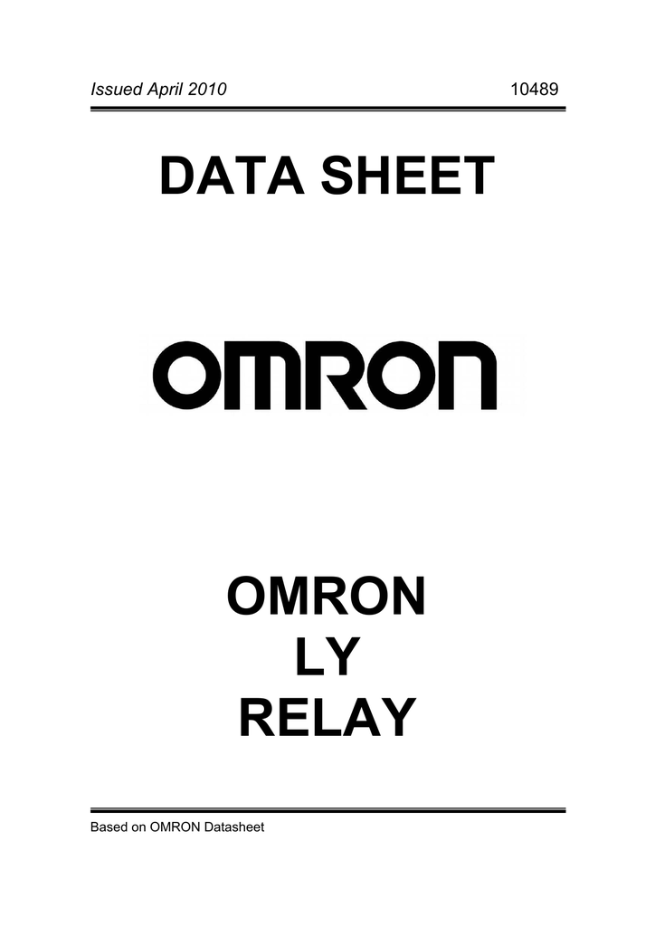 omron ly1n relay wiring diagram   31 wiring diagram images