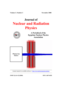 Nuclear and Radiation Physics