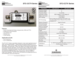 STC-CCTV Series - Emerson Industrial Automation