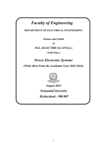 Faculty of Engineering - Muffakham Jah College of Engineering and