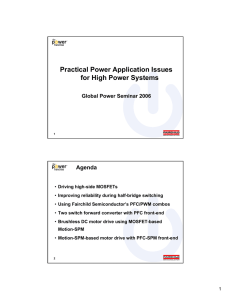 Practical Power Application Issues for High Power Systems