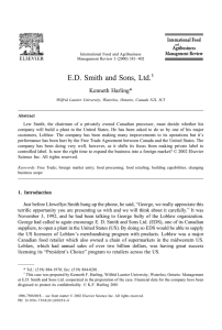 ED Smith and Sons, Ltd.