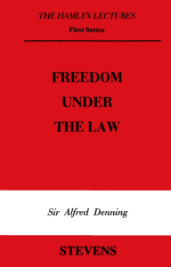 Freedom Under the Law - College of Social Sciences and