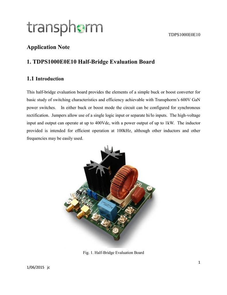 Application Note 1 Tdps1000e0e10 Half Fig 3 Boost Converter Evaluation Board
