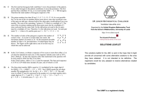 solutions leaflet - United Kingdom Mathematics Trust