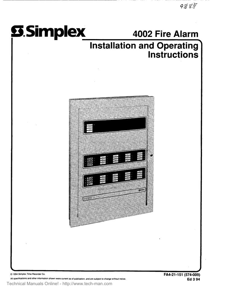 Simplex Fire Alarm Resources