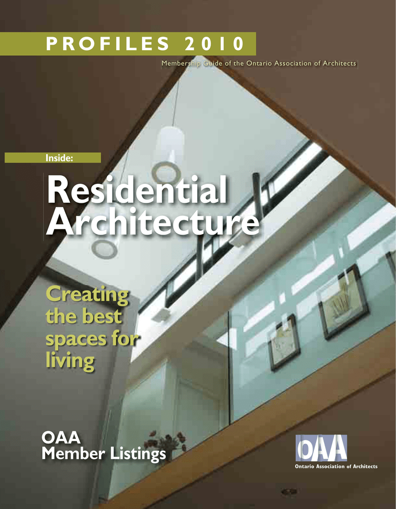 Residential Architecture - Ontario Association of Architects