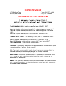 EXETER TOWNSHIP FLAMMABLE AND COMBUSTIBLE LIQUID