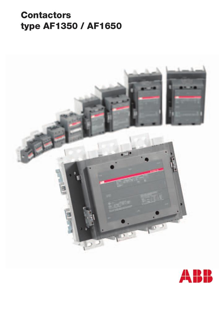Contactors type AF1350 / AF1650 on