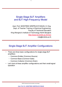 Single-Stage BJT Amplifiers and BJT High