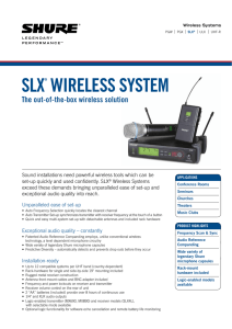slx® wireless system