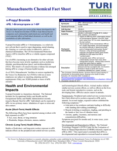 Massachusetts Chemical Fact Sheet n-Propyl Bromide