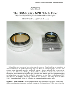 The DGM Optics NPB Nebula Filter