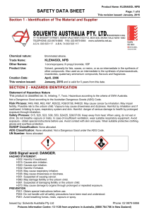 klenasol npb - Solvents Australia Pty Ltd