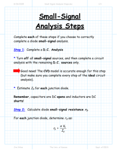 Small-Signal Analysis Steps