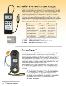Enviro-Meter™ Traceable® Pressure/Vacuum Gauges
