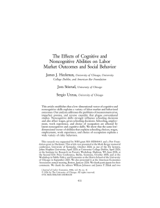 The Effects of Cognitive and Noncognitive Abilities on Labor Market