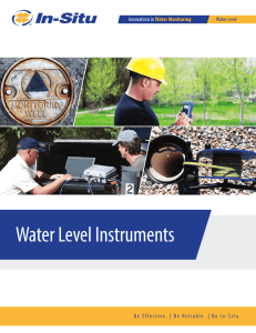 Water Level Brochure - In-Situ