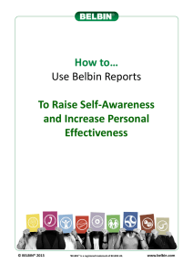 How to use Belbin Reports to raise self