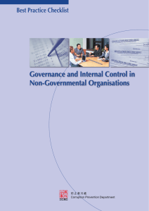Governance and Internal Control in Non