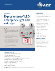 Explosionproof LED emergency light and exit sign