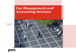 Tax Management and Accounting Services