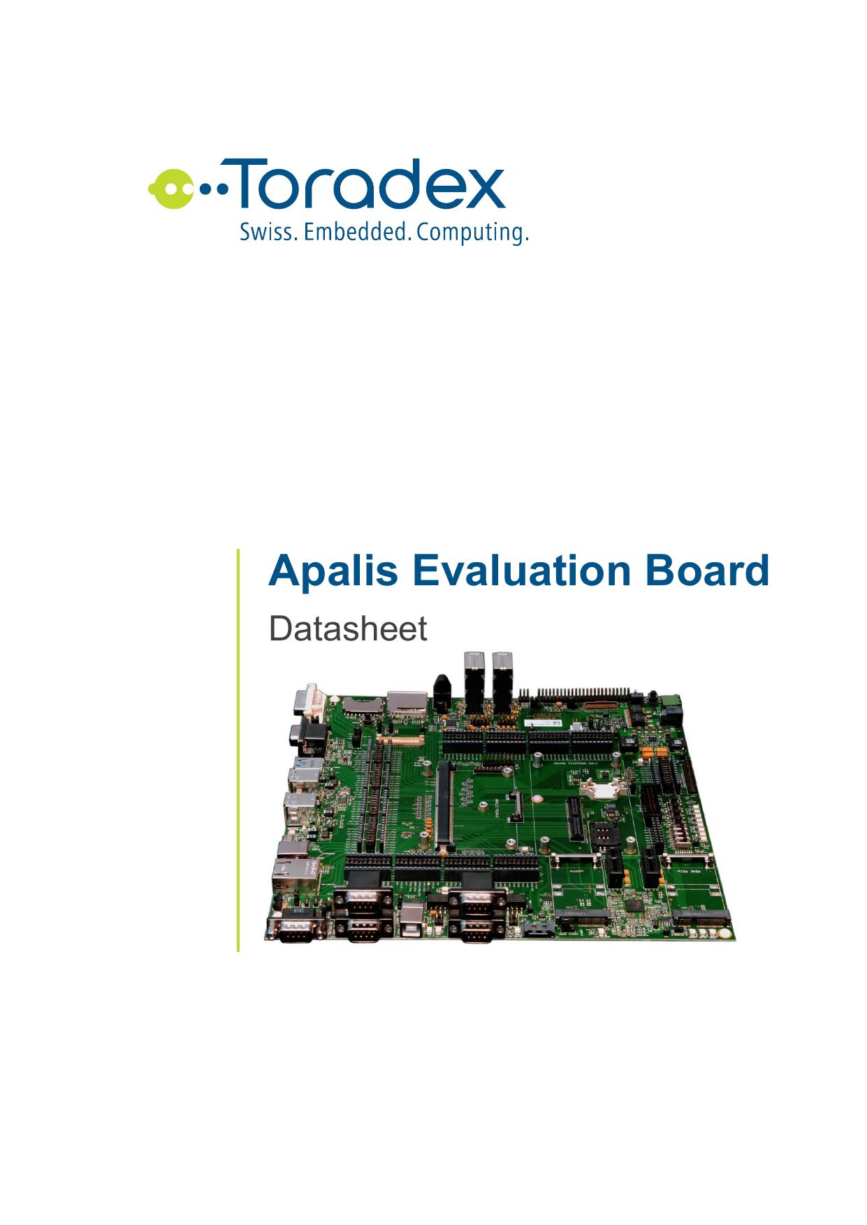 Apalis Evaluation Board Datasheet