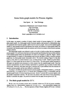 Some finite-graph models for process algebra