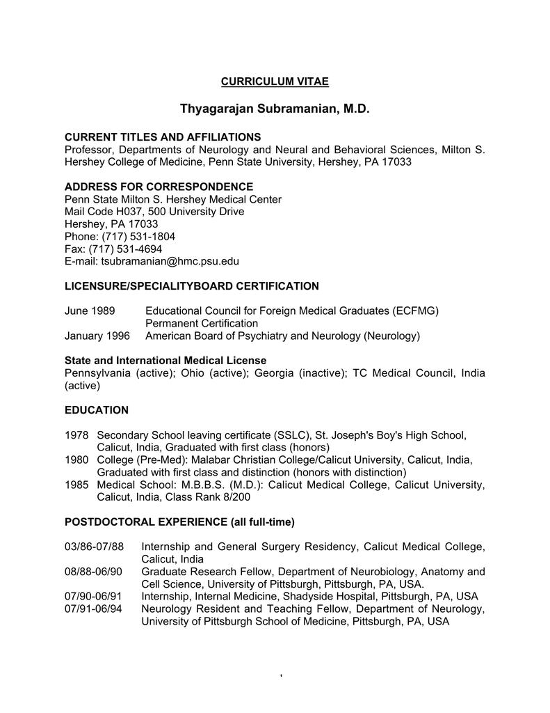 Thyagarajan Subramanian, MD