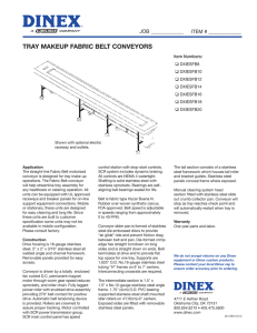 tray makeup fabric belt conveyors