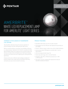 amerbritetm white led replacement lamp for amerlite® light