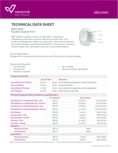 technical data sheet - Vancive | Avery Dennison