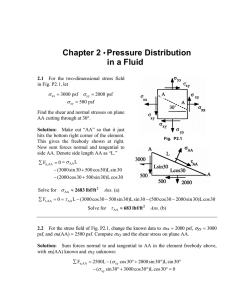 Chapter 2 • Pressure Distribution in a Fluid