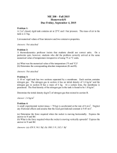 ME 200 – Fall 2015 Homework#1 Due Friday, September 4, 2015