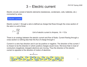 3 – Electric current