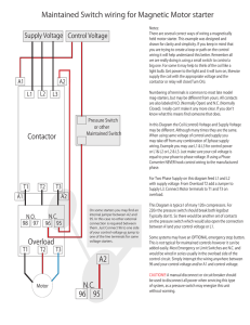 Contactor Overload Maintained Switch wiring for Magnetic Motor | Motor Contactor Wiring Diagram Pressure |  | StudyLib