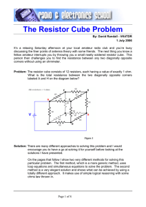 The Resistor Cube Problem