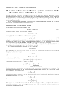 12 Lecture 12: Second order differential equations