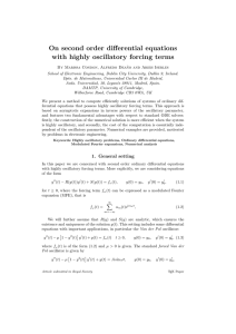 On second order differential equations with highly oscillatory