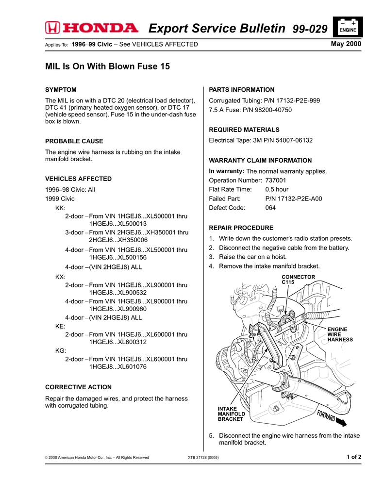 Export Service Bulletin