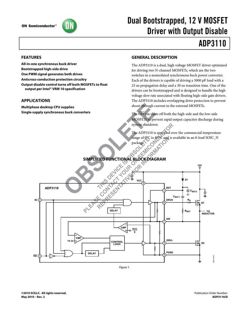 Adp3110 On Semiconductor Mosfet Protection Circuit