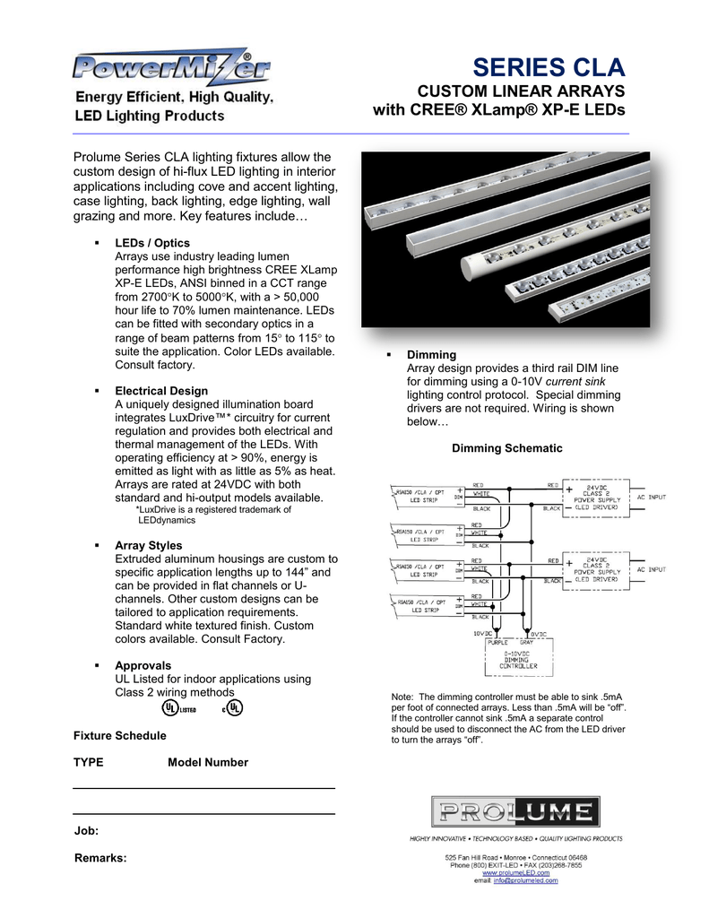 0 10v Dimming Wiring Methods Solutions Dimmers Series Cla Spec Sheet
