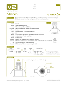 Nano Data Sheet - V2 Lighting Group