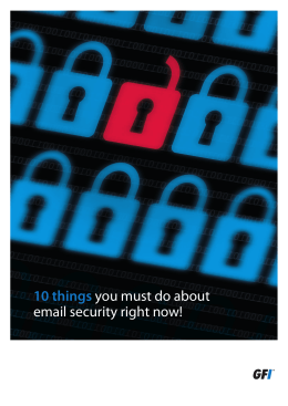 10 things you must do about email security right now!