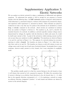 Supplementary Application 3: Electric Networks