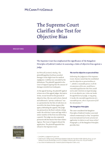 The Supreme Court Clarifies the Test for Objective Bias