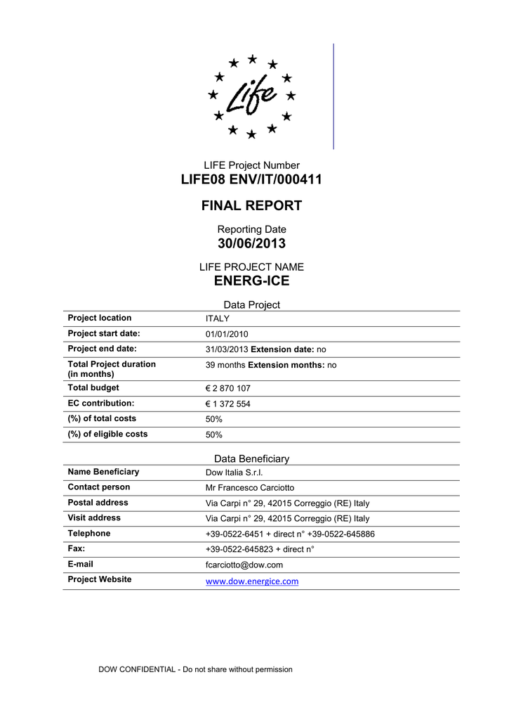 Project`s Final technical report