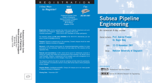 "An intensive 4-day course on ""Subsea Pipeline Engineering"" by Prof"